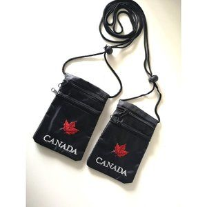 Accessories - Lot of 2 Money/ID Necklace Pouches black/red
